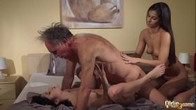 imagen Old Young Porn Teens share old man and ride his…