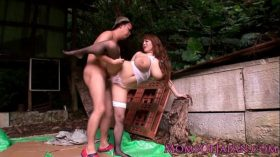 imagen Mature Hitomi Tanaka pounded outdoors