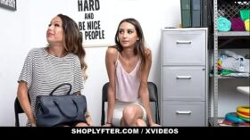 imagen ShopLyfter – Huge Tits Milf and Hot Daughter Give Head To Avoid Jailtime